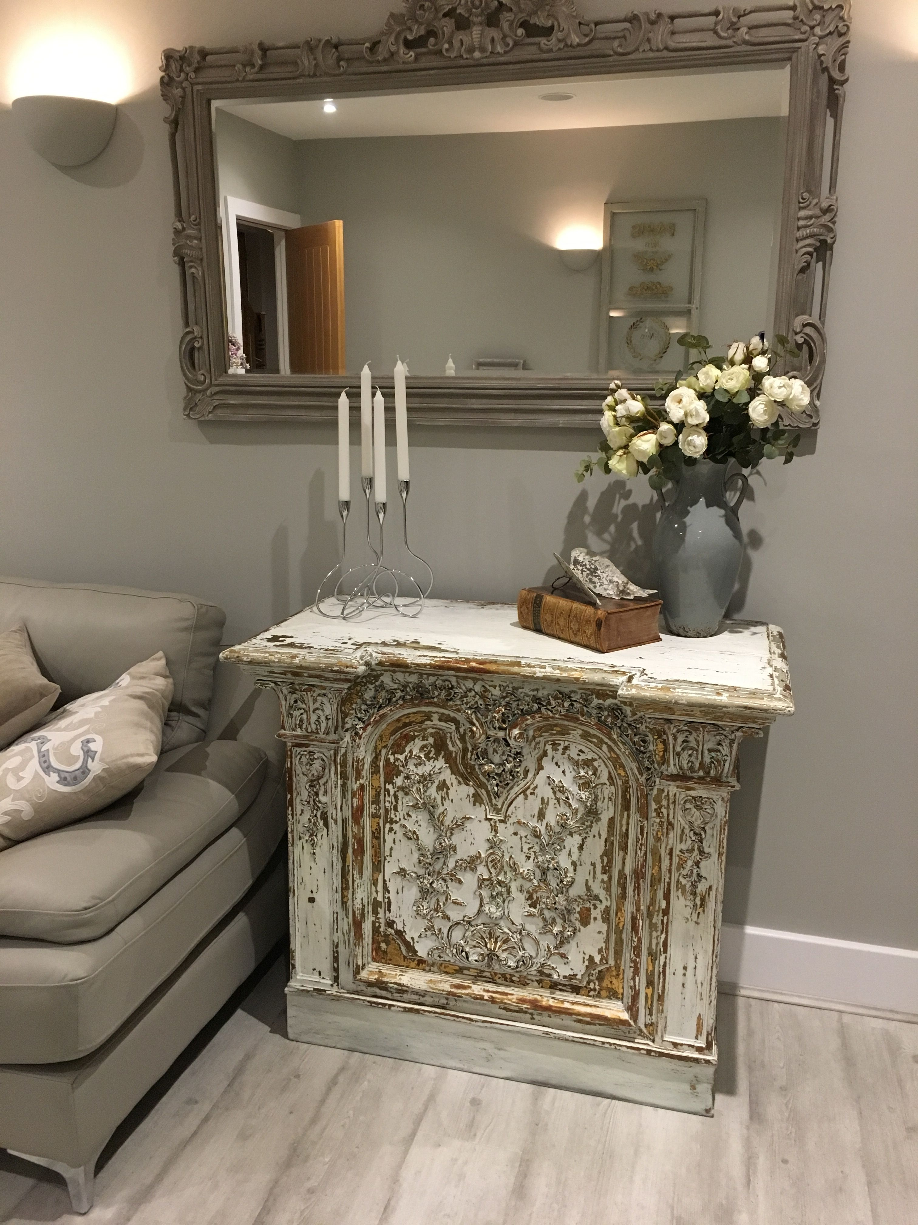 antique french shop counter makes a great console table french rh pinterest com