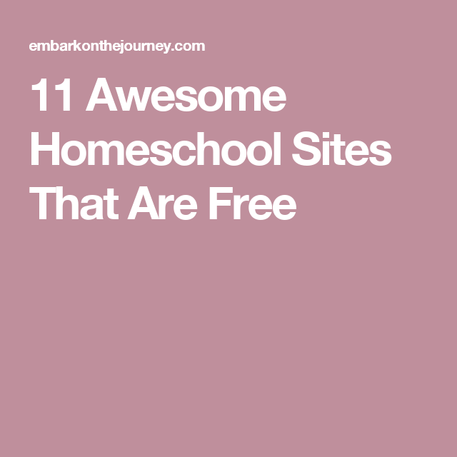 11 Awesome Homeschool Sites That Are Free