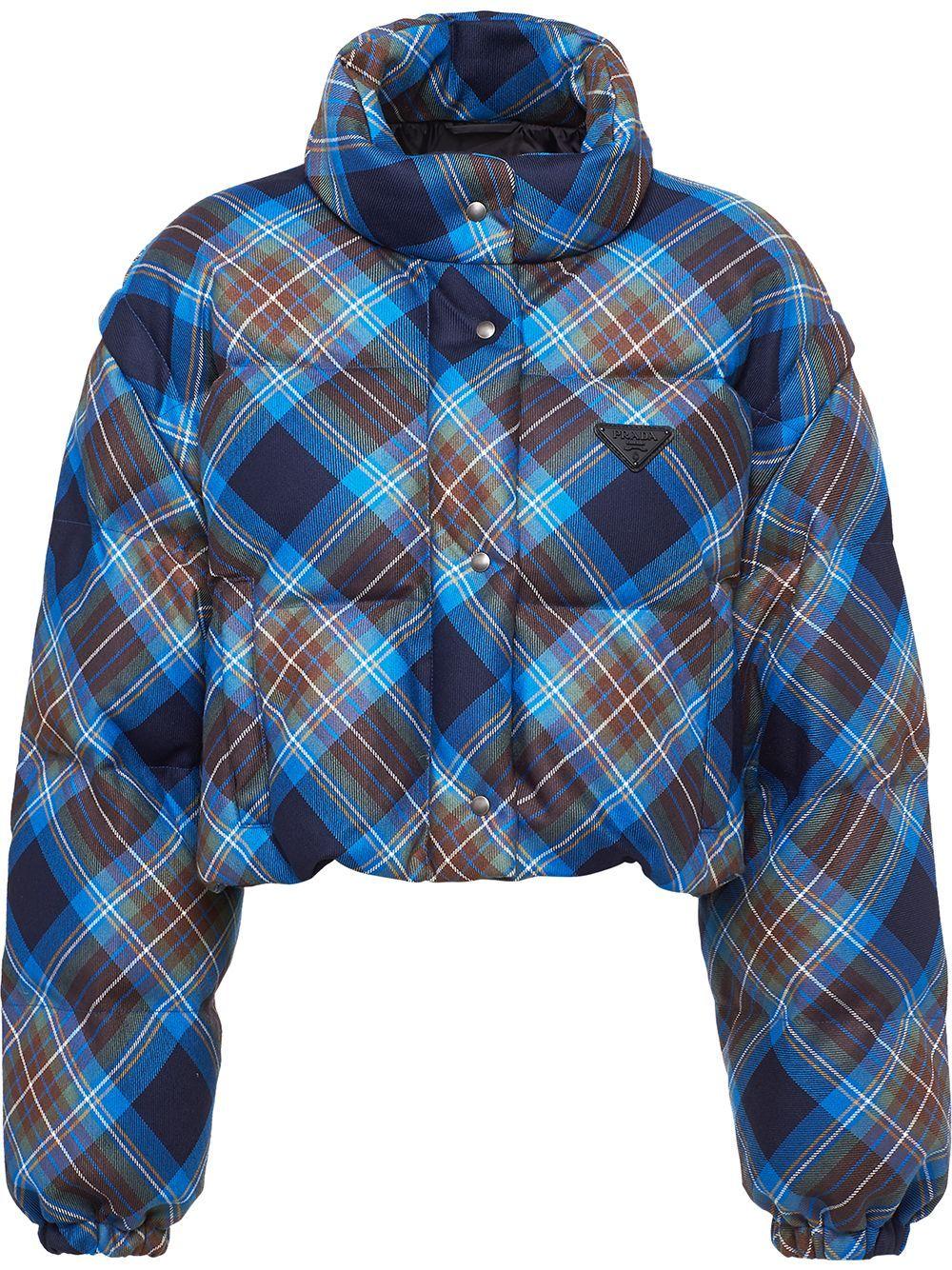 Prada Plaid Print Puffer Jacket Farfetch In 2021 Puffer Jackets Jackets Prada [ 1334 x 1000 Pixel ]