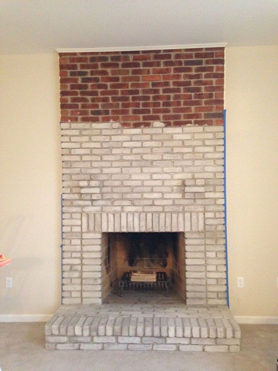 modern rustic painted brick fireplaces ideas 57 projects to try rh pinterest co uk