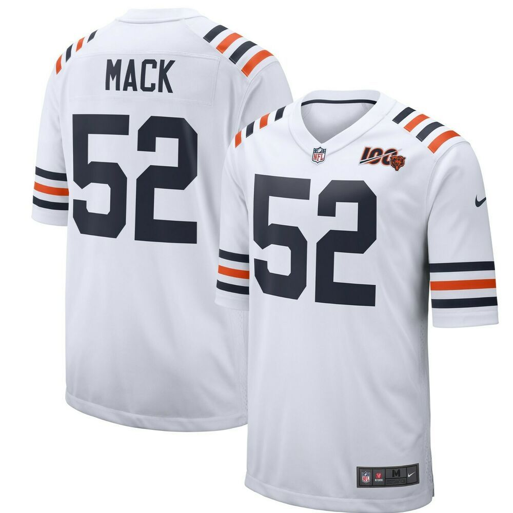 Xl Khalil Mack Chicago Bears Nike 2019 100th Season Alternate Classic Jersey Nike Chicagobears In 2020 Jersey Chicago Bears Game Walter Payton