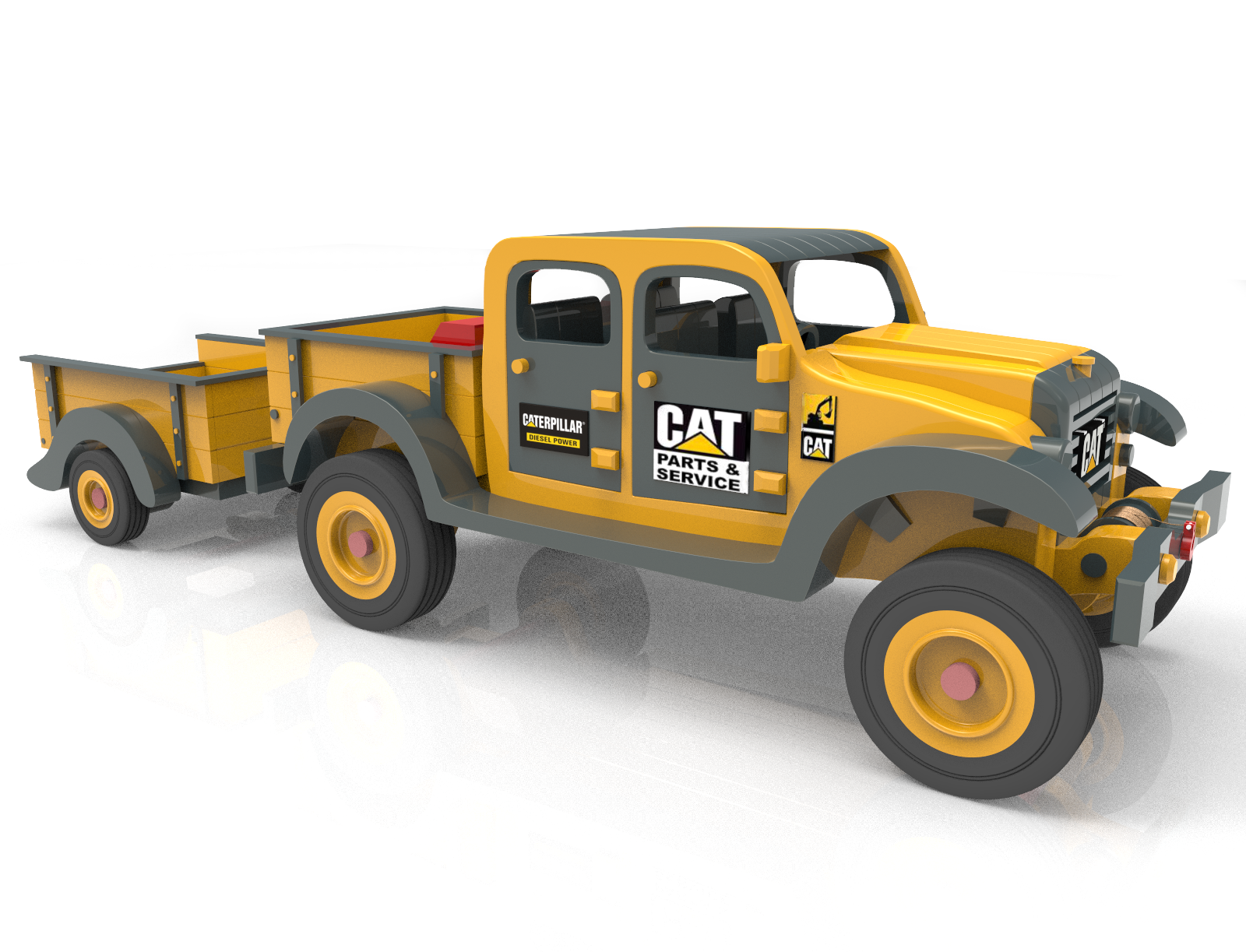 My New Plan Set Dodge Power Wagon Cat Colour Really Cool Wooden