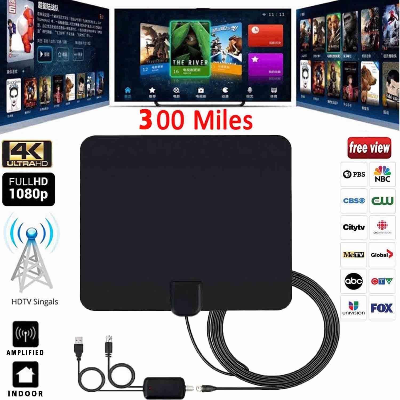 100 Mile Range Antenna TV Digital HD Skywire 4K Antena Digital Indoor HDTV 1080p