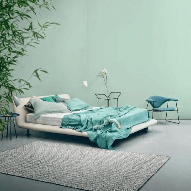 Modern Minimalist Pastel Green Bedroom Minimalist