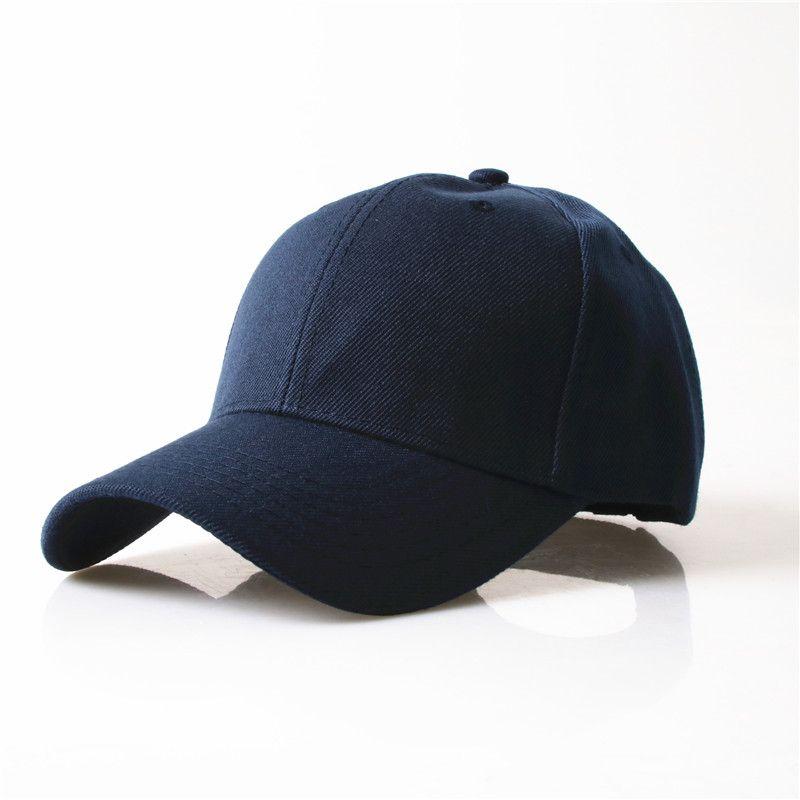 Durable 2016 Neue Masculino Hysteresen Casquette Gorras Sport Leere Gekrümmte Feste Farbe Justierbare Baseballmütze Knochen Caps