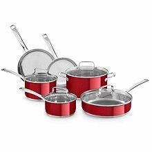 kitchen aid 10 pc stainless steel cookware set kitchen cookware rh pinterest com