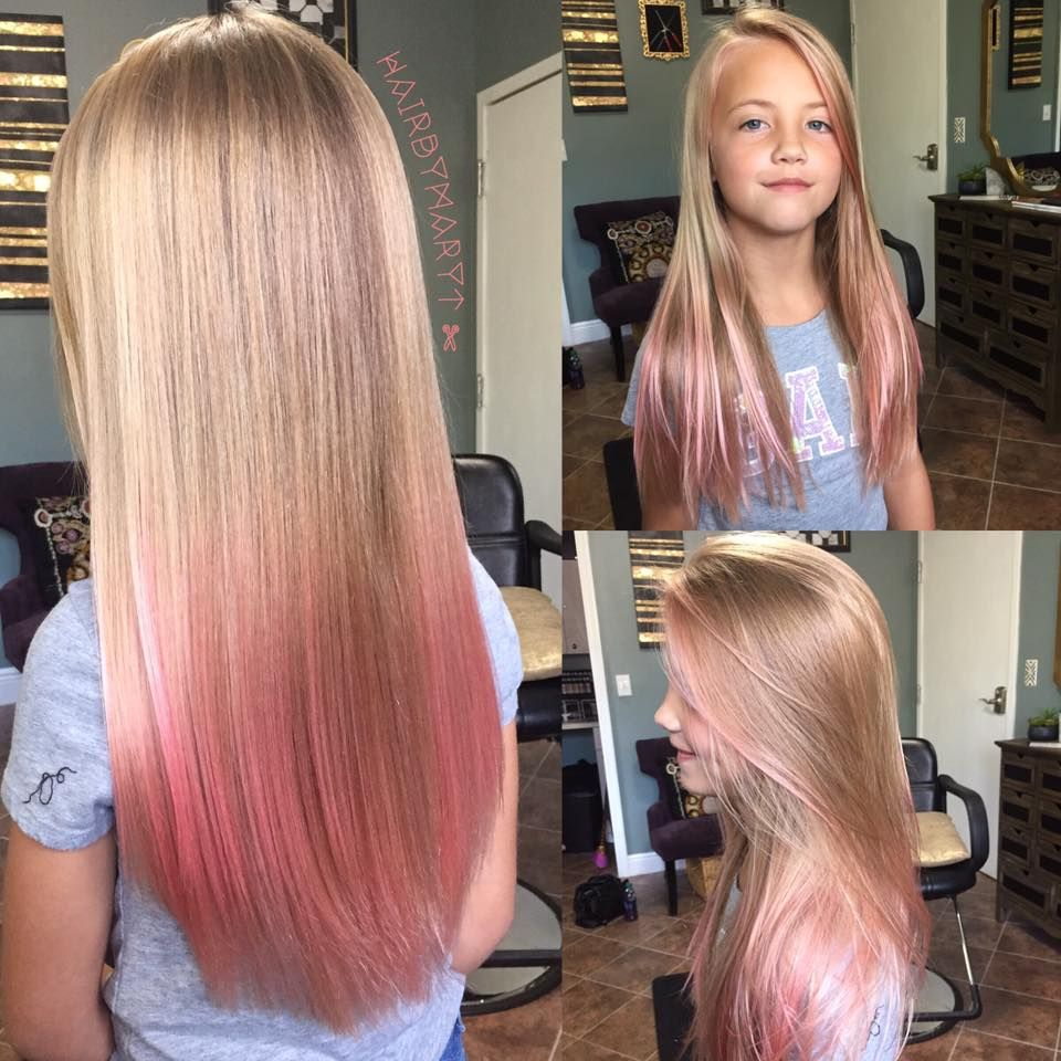 Little Girl S Long Colorful Hair More Gorgeous Hairs At Kinghair Who Devotes Itself For Many Years To Pro Kids Hair Color Colored Hair Tips Girl Hair Colors