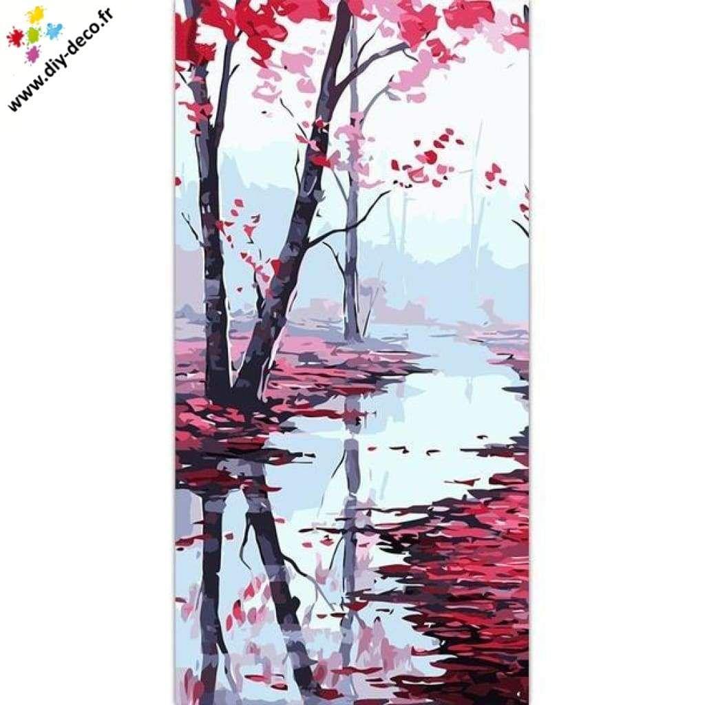 Peinture Par Numero Grand Format Bois Aux Couleurs D Automne