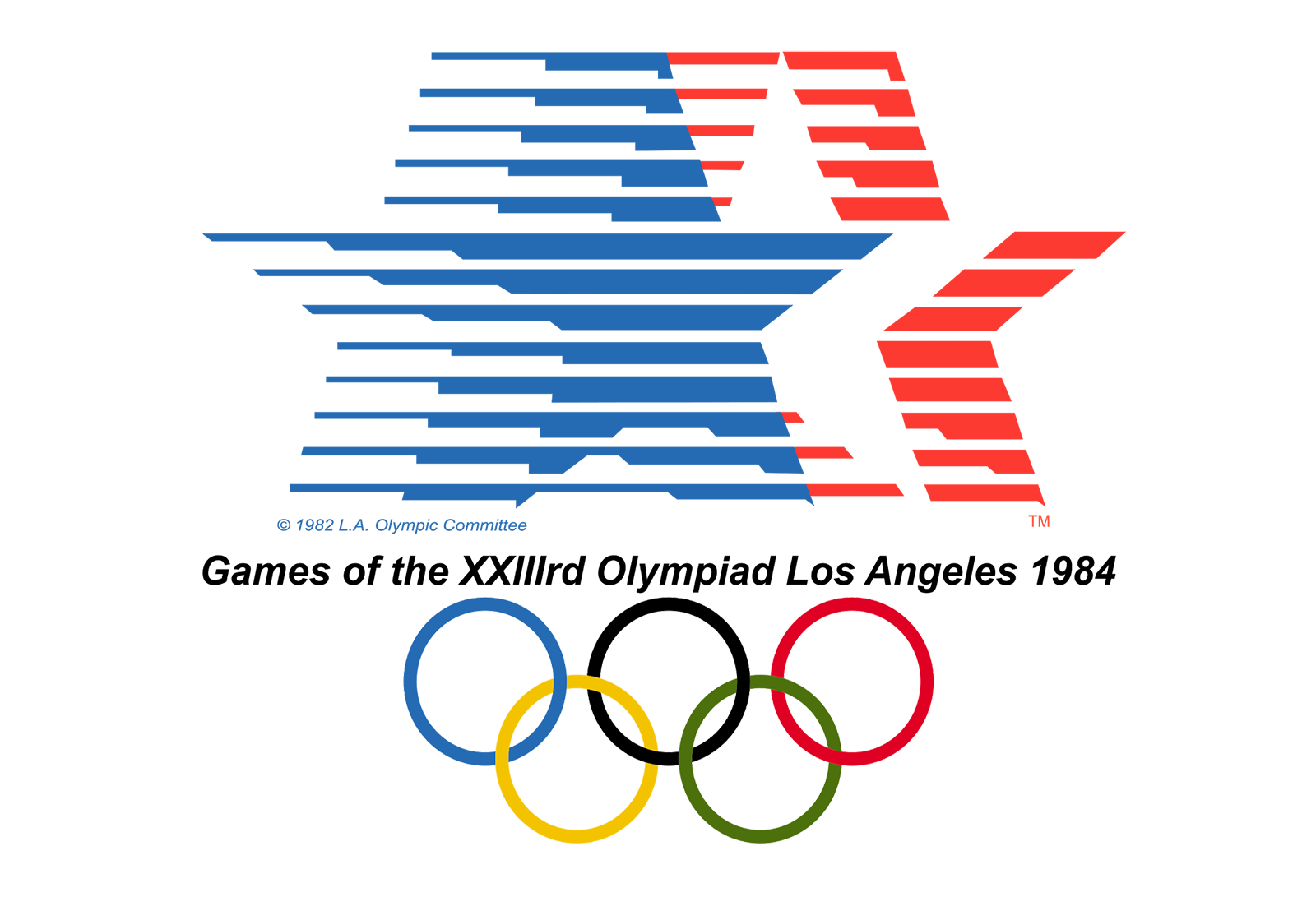 45 Olympic Logos And Symbols From 1924 To 2022 Colorlib Olympic Logo 1984 Olympics 1984 Summer Olympics