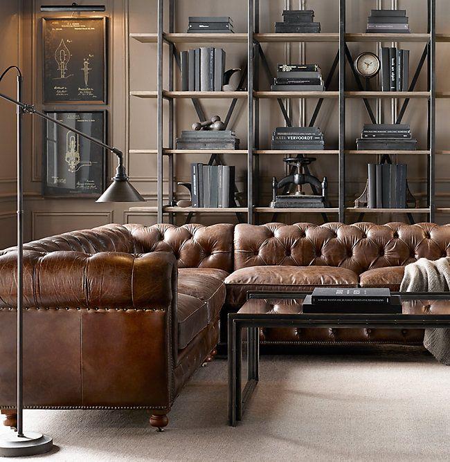 petite kensington leather customizable sectional home family rh pinterest co uk