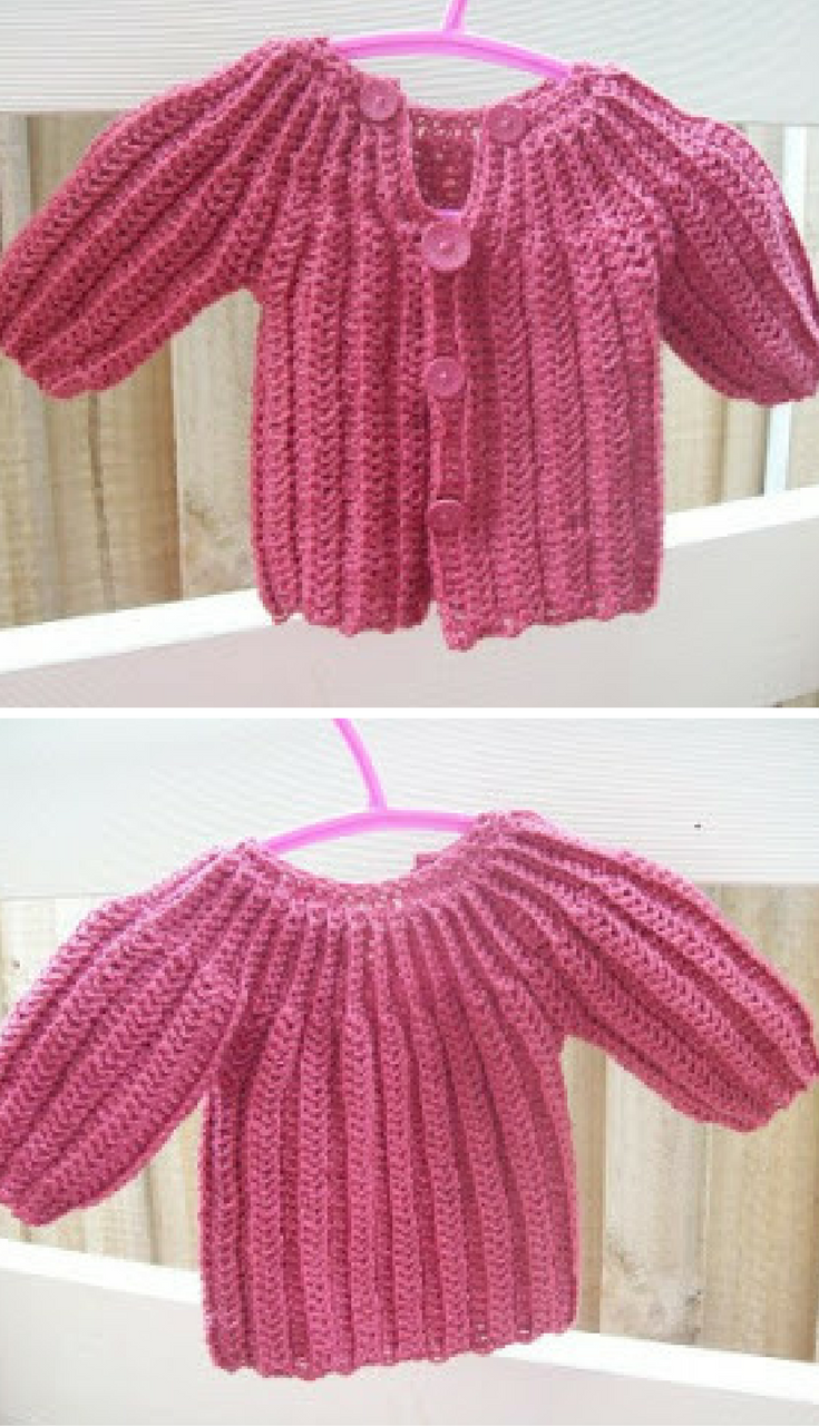55af2b5ff Free Crochet Pattern  This One Piece Wonder Baby Sweater Pattern Is ...