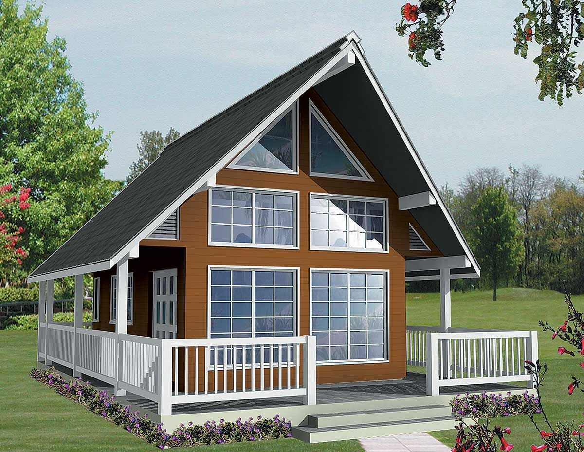 Plan 9836SW Vacation Escape With Loft and