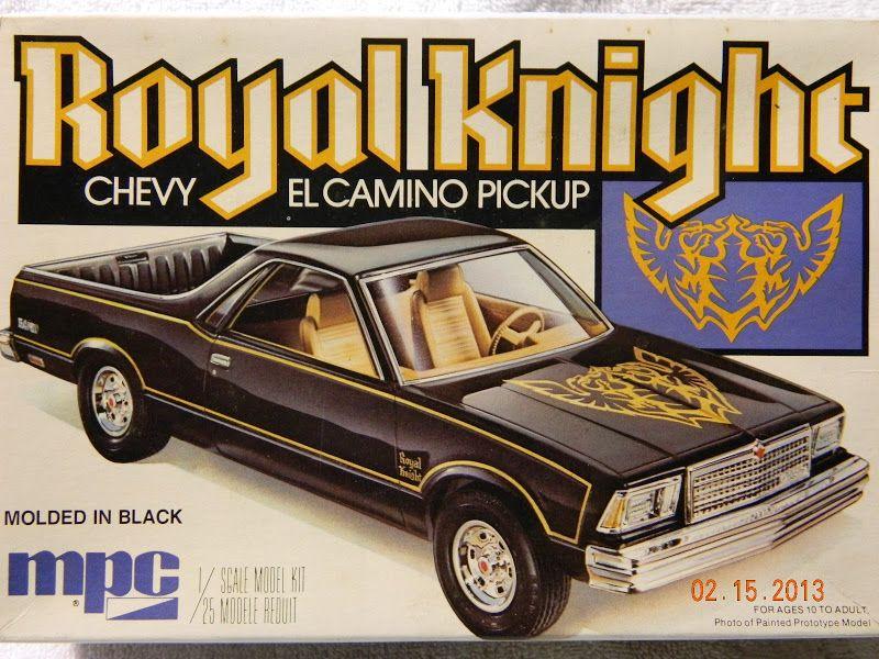 Mpc Royal Knight Chevy El Camino Box Art Model Cars Kits