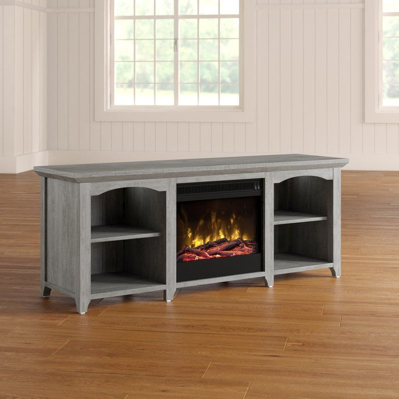 Danforth Tv Stand For Tvs Up To 60 With Fireplace Tv Stand