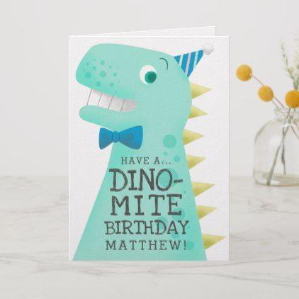 Funny Dinosaur Birthday Card Zazzle Com Kids Birthday Cards Funny Birthday Cards Birthday Greeting Cards