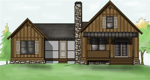 camp creek cabin house plan - dog trot cabin home plan | cute