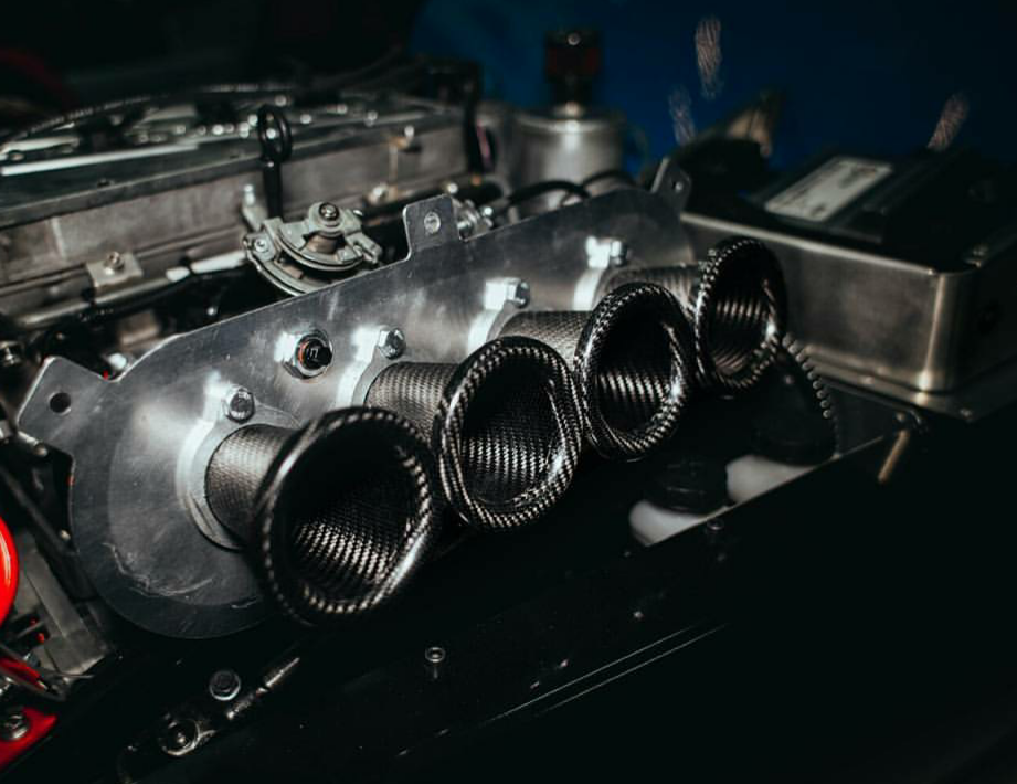"carbon air horn intake system in Russian kitcar ""Shortcut"