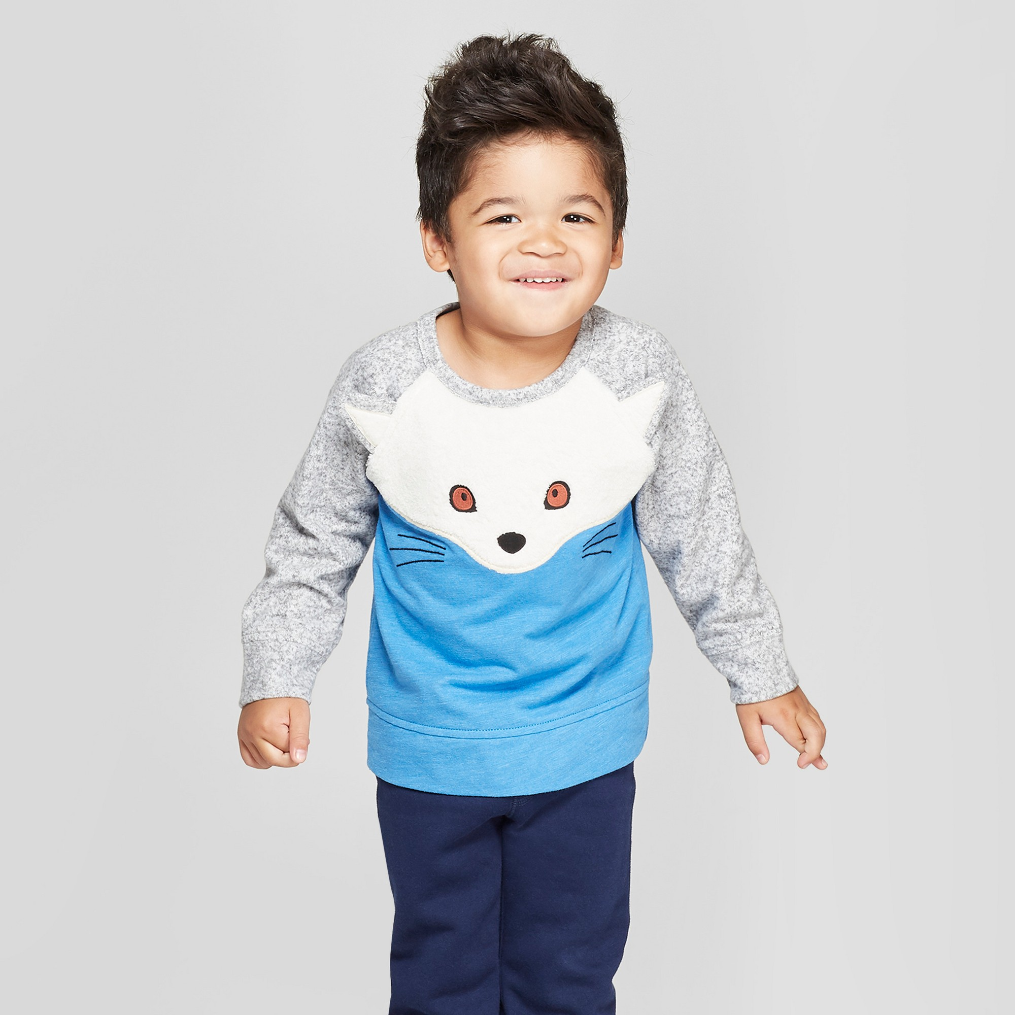 230664c27 Genuine Kids from OshKosh Toddler Boys' Arctic Fox Pullover - Blue ...