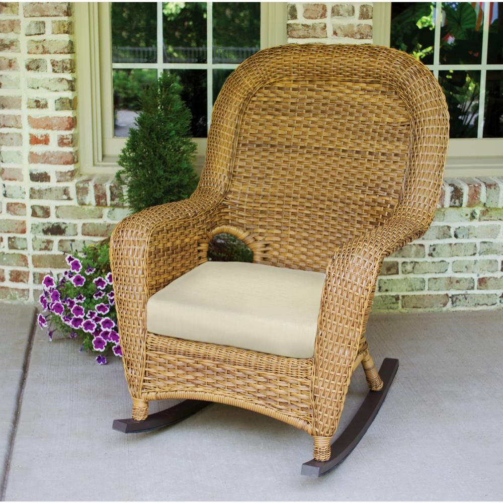 tortuga outdoor sea pines mojave wicker outdoor rocking chair with rh pinterest com