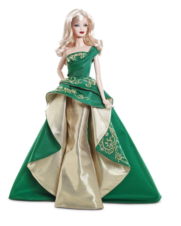 Barbie Noel 2010 2010 Barbie Holiday Noël Barbie 2011 T7914 Poupée Doll Collector