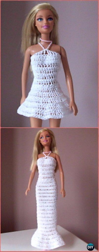 Crochet Mini Or Long Barbie Dress Free Pattern Crochet Barbie
