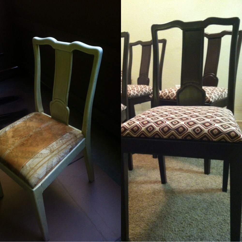 diy reupholster dining room chairs and table fabric cost 3 50 for rh pinterest ca