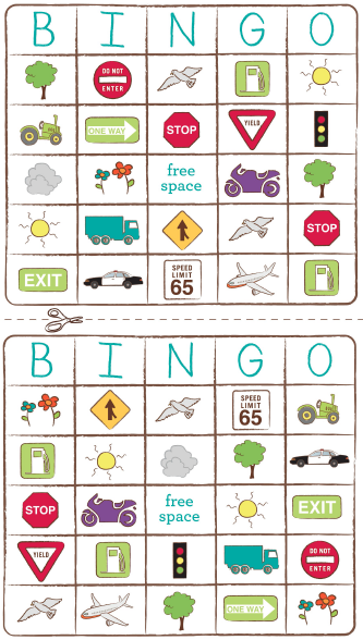 Backseat Bingo, Travel Printables, and Camp Kiwi Printable