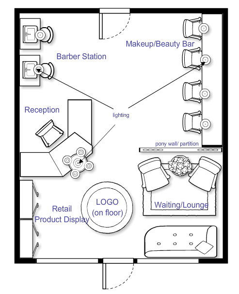 Beauty Salon Floor Plans Hair: I Really Like This One