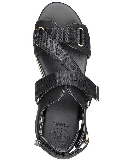a50c4b039afb7 GUESS Women s Laureta Flatform Logo Sport Sandals Shoes - Sandals   Flip  Flops - Macy s. main image