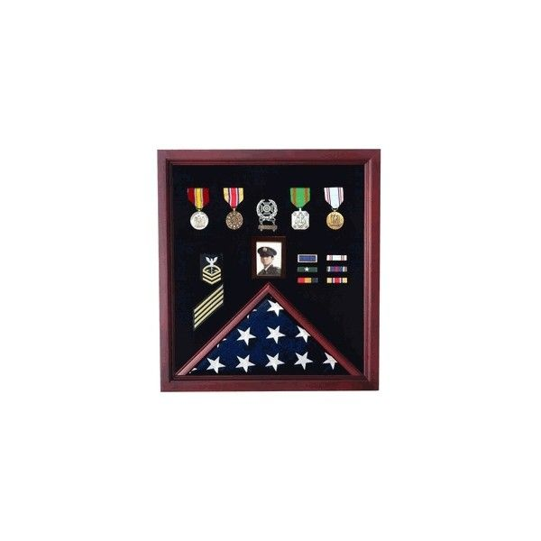 Flag Photo Display case Photo Medal Display case via Polyvore featuring home and home decor