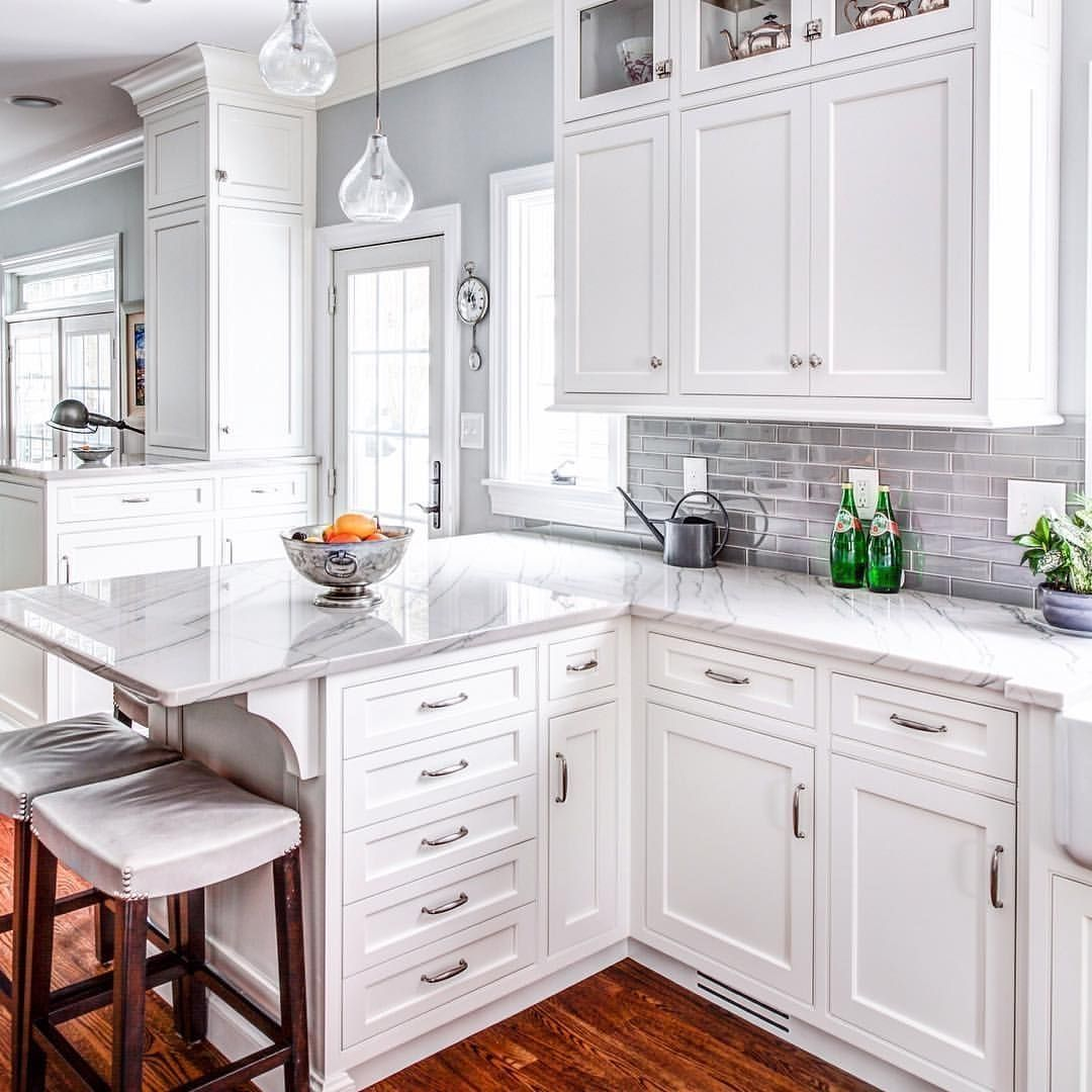 White Kitchen Cabinets In Stock: Gorgeous 47 Adorable White Kitchen Cabinets Design Ideas