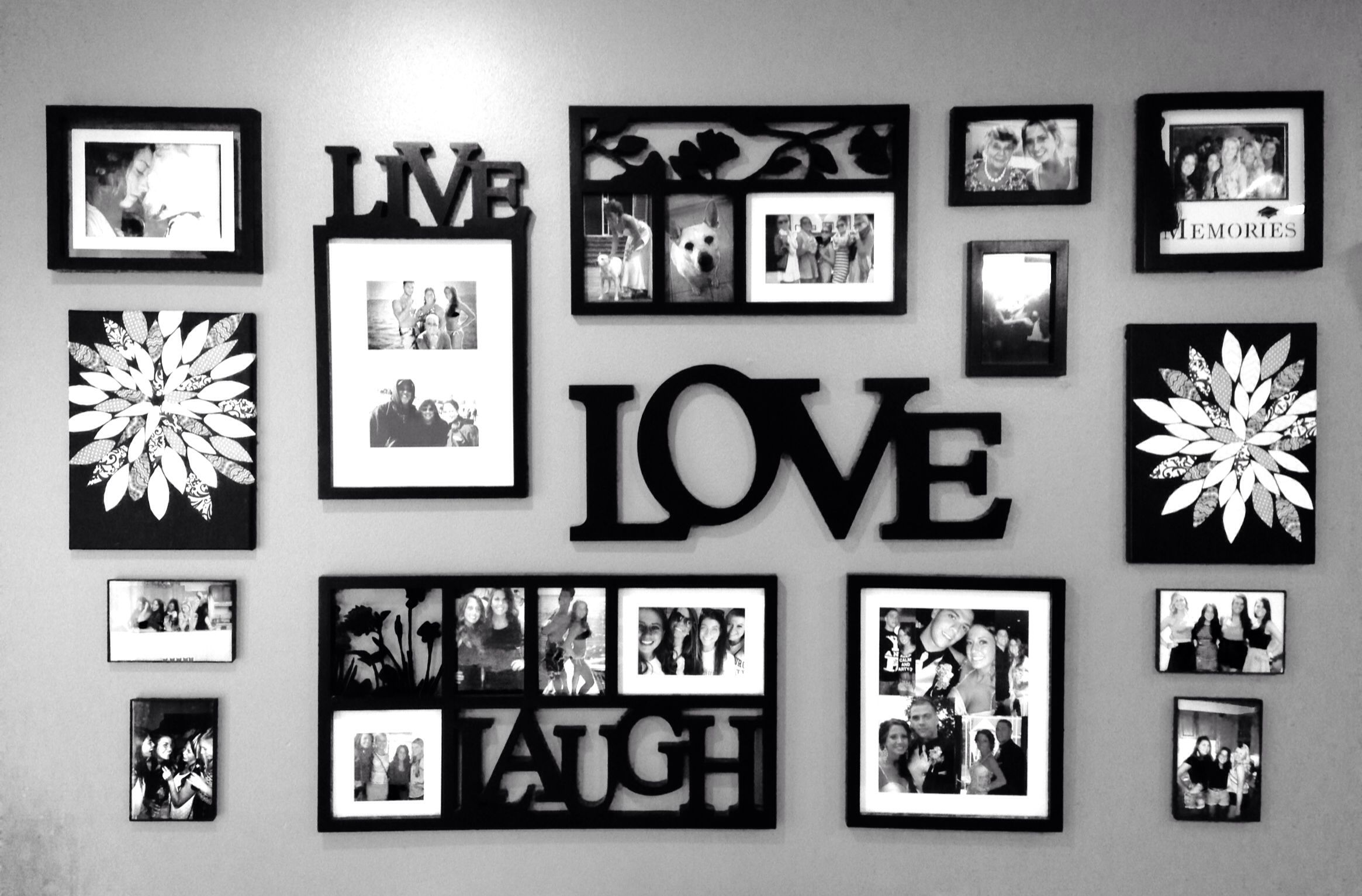 Wall Decor Collage Live Laugh Love