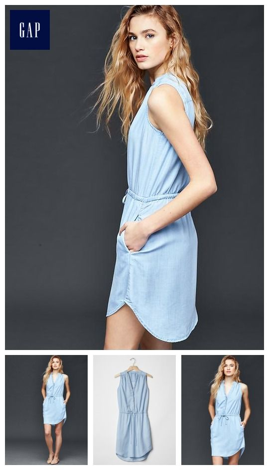 e0feb42a0b7e Tencel  174 chambray shirtdress