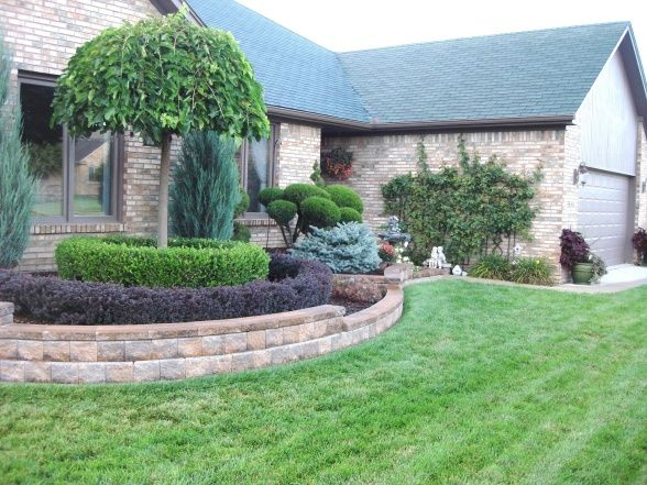 front yard walls retaining