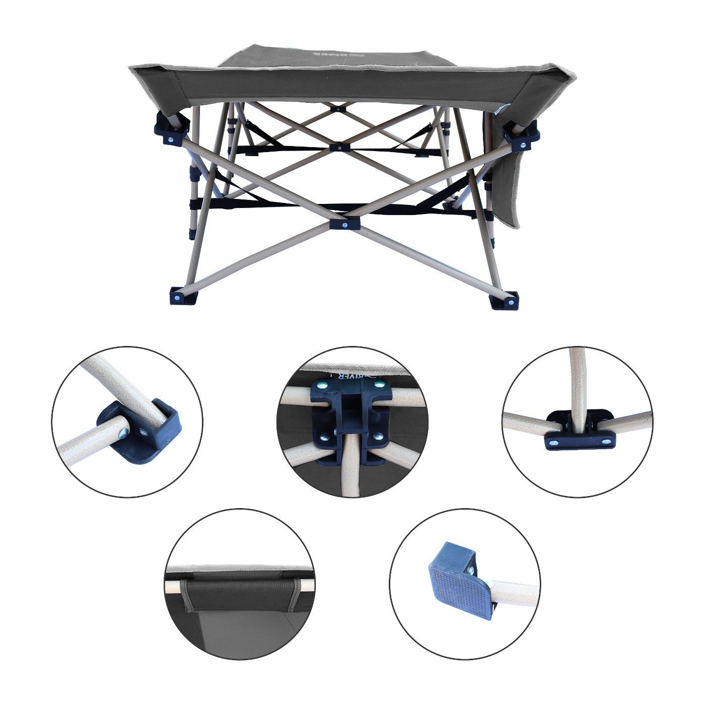 Osage River Folding Camping Cot with Carry Bag, Portable