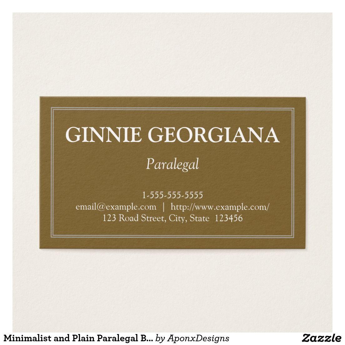 Minimalist and plain paralegal business card paralegal business minimalist and plain paralegal business card reheart Choice Image