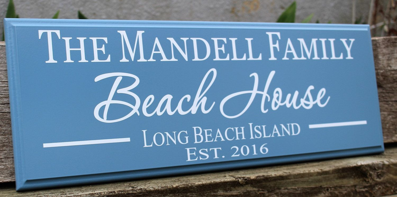 Beach Sign Decor Inspiration Personalized Beach House Sign Beach House Decor Beach Sign Inspiration Design