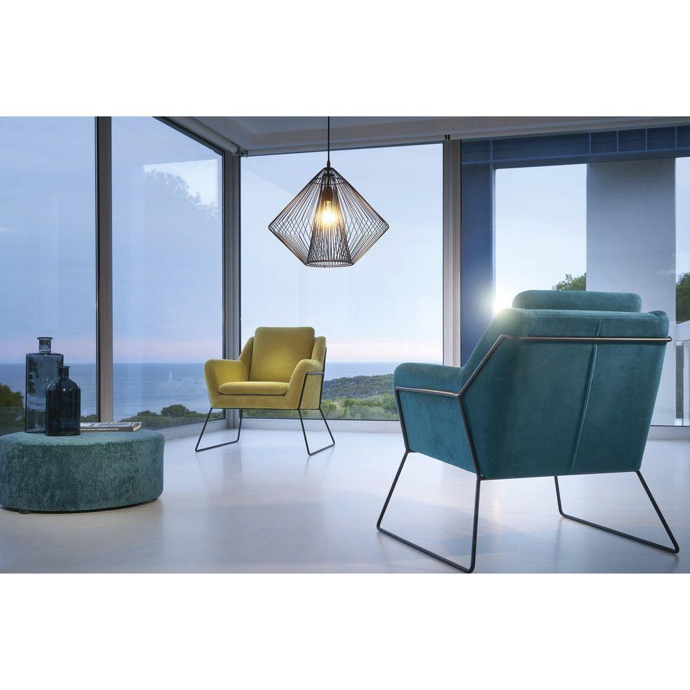 Poltrona in velluto blu notte | Design | Pinterest