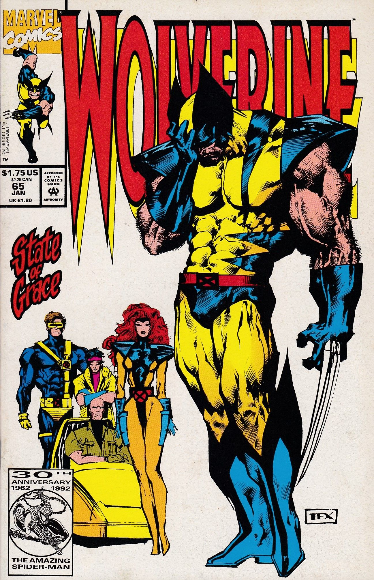 Wolverine 65 Marvel Comics Vol 2 Wolverine Marvel Wolverine Comic Comic Covers