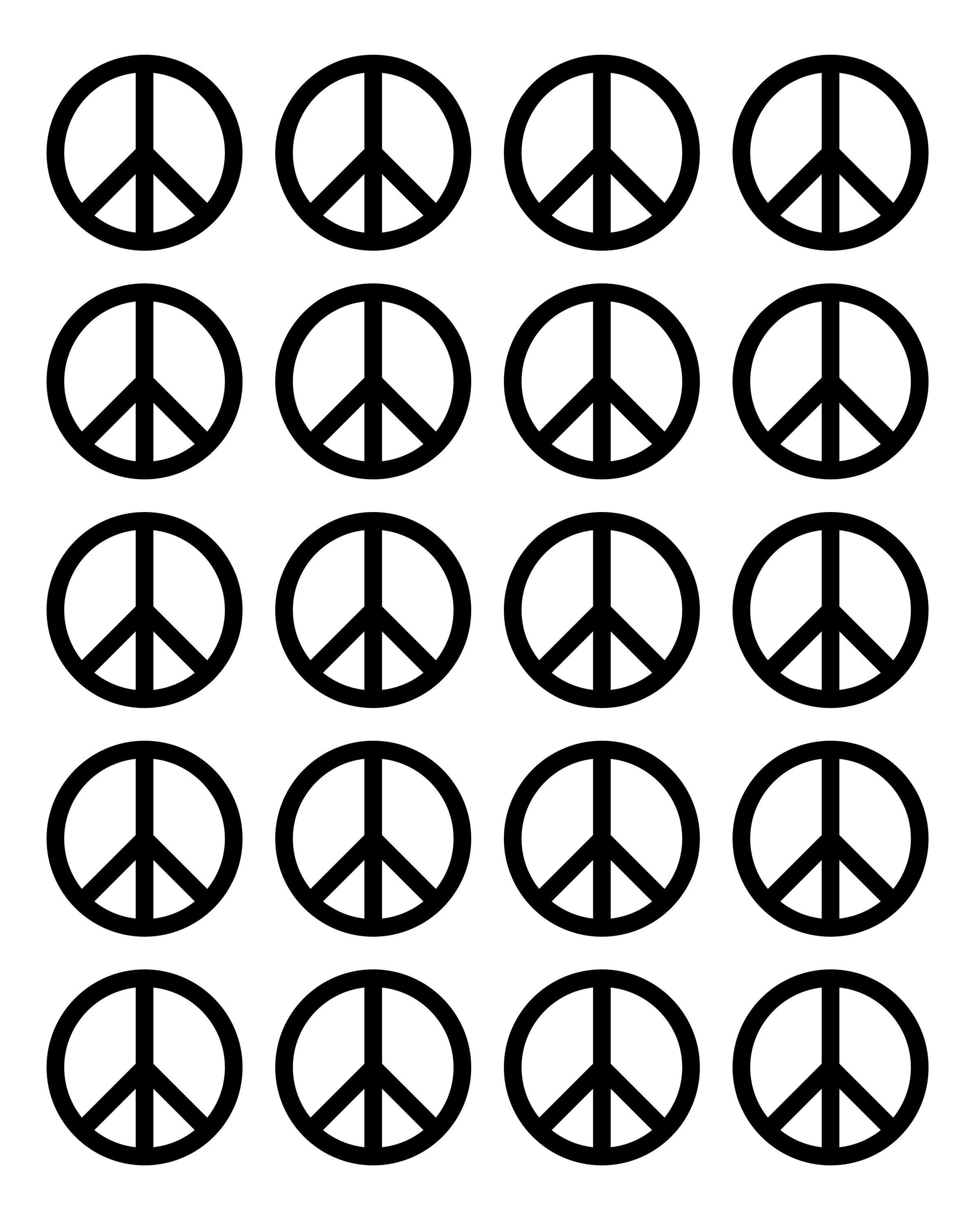 Created this template for piping melted chocolate into peace signs since I couldn t find