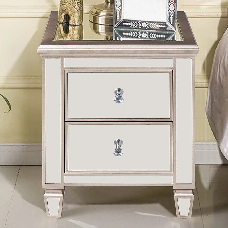 Everly Quinn Laurine 2 Drawer Nightstand Reviews Wayfair In 2020 2 Drawer Nightstand Drawer Nightstand Nightstand