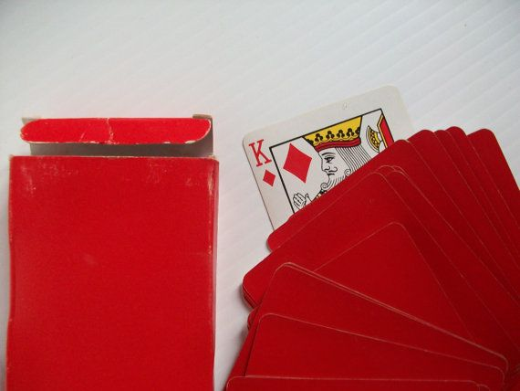 vintage deck of blank back playing cards  vintage playing