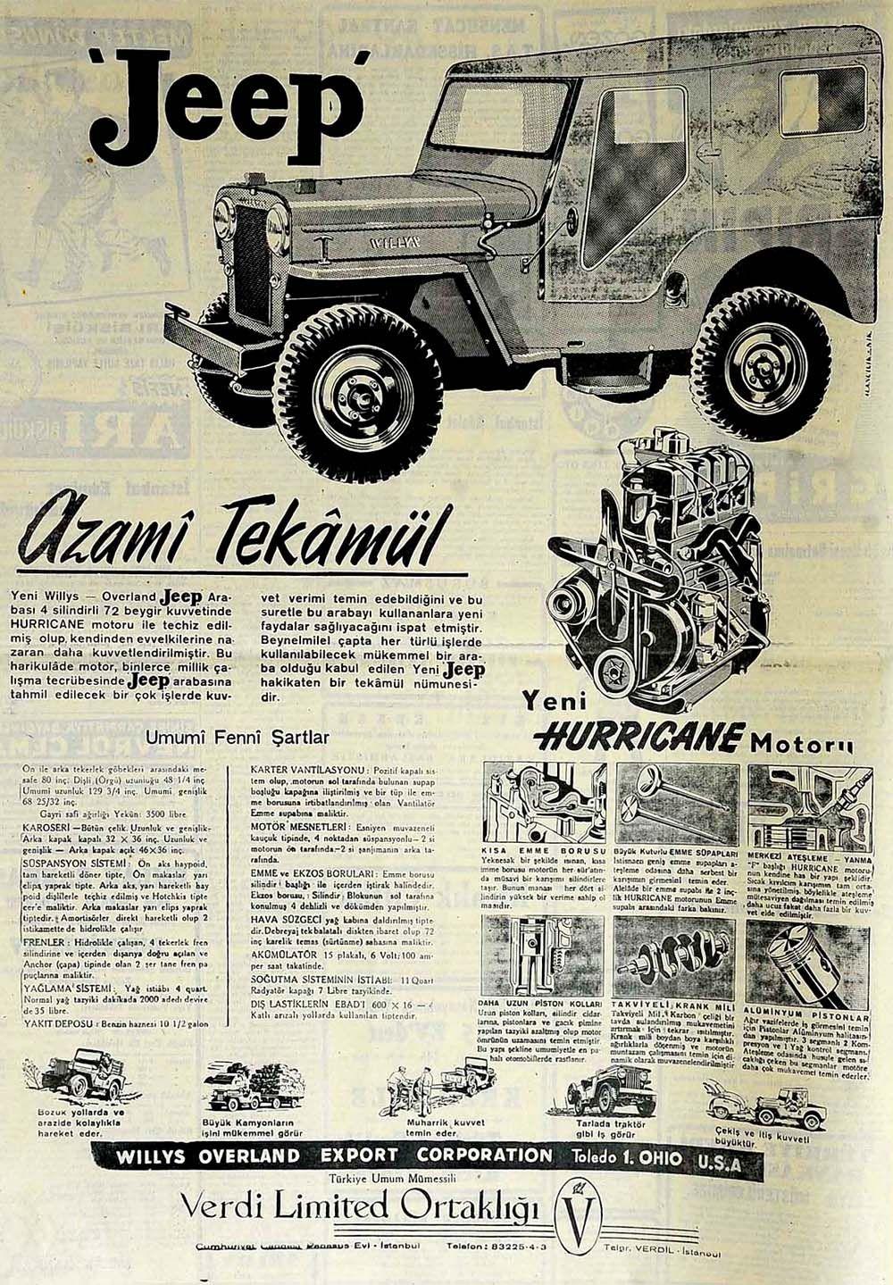Haber Jeep Azami Tekamul Jeep Klasik Reklamlar Klasik Arabalar