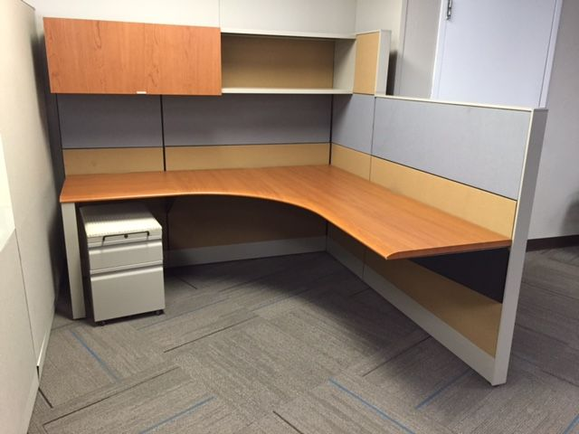 knoll dividend used cubicles mixed height of tal used office rh pinterest com