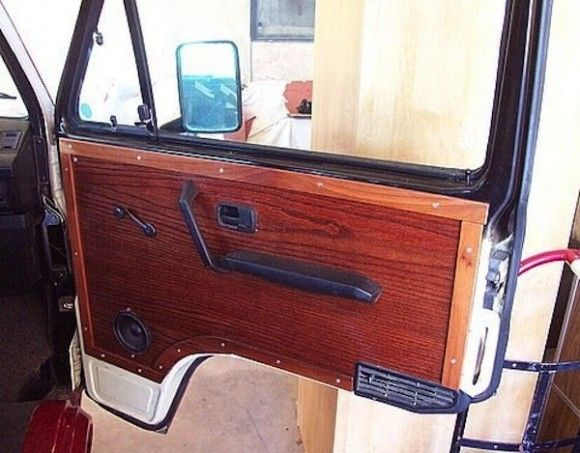 Vanagon Wood Door Panel Panel Doors Custom Wood Interior Wood Paneling