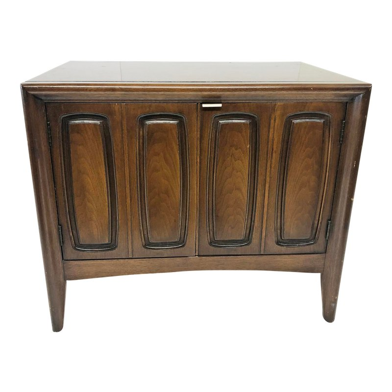 Mid Century Modern Emphasis Record Cabinet By Broyhill Record