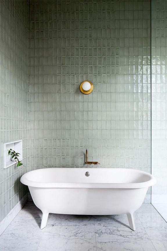 color story sage tiles bathroom bath home rh pinterest com