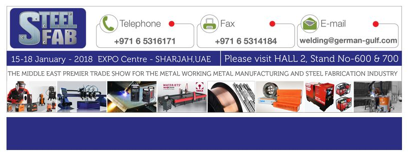We are participating in the Steel Fab - 2018  Kindly visit