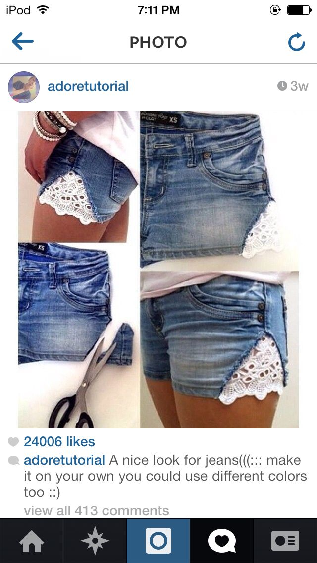 Love these DIY lace shorts