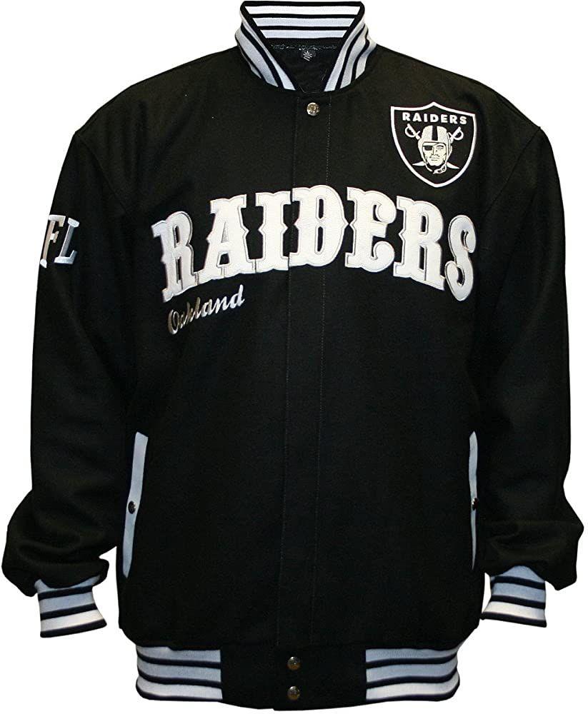 Amazon Com Nfl Men S Oakland Raiders First Down Wool Jacket Black 4x Large Sports Fan Outerwear Jackets Clothing Best Hoodies For Men Jackets Raiders [ 1000 x 823 Pixel ]
